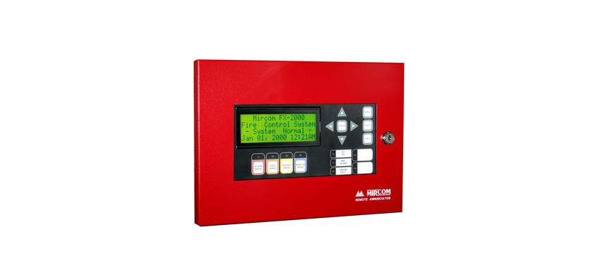 Conventional 2 Zone fire alarm panel image