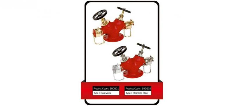 FIRE HYDRANT VALVE DOUBLE CONTROL