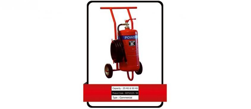 DRY POWDER TYPE BC – TROLLEY MOUNTED